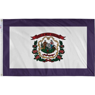 Valley Forge 3 Ft. x 5 Ft. Nylon West Virginia State Flag