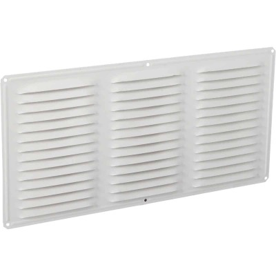 Air Vent 16 In. x 8 In. White Aluminum Under Eave Vent