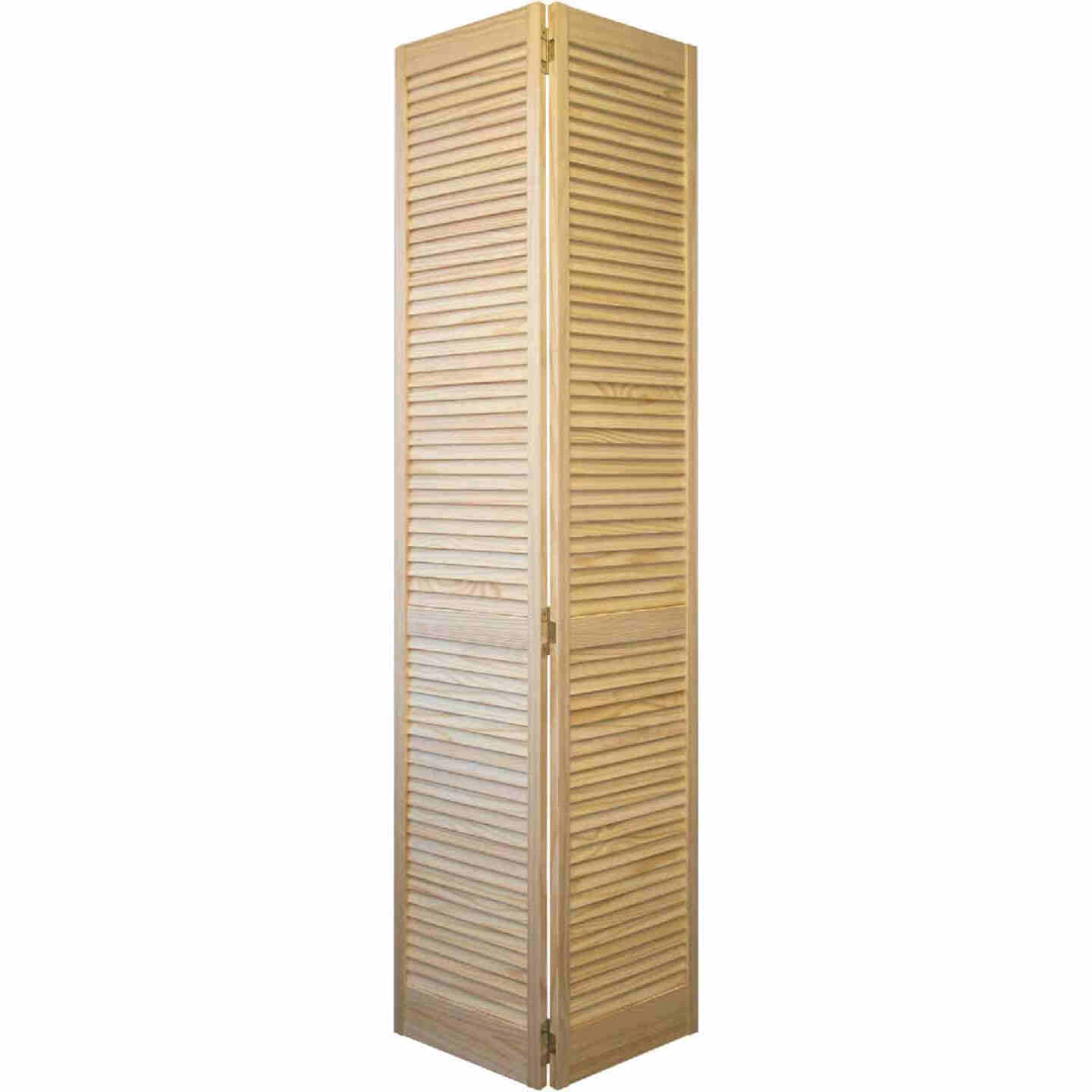 Jeld Wen 24 In. W. x 80 In. H. Pine Louver/Louver Natural Color Bifold Door Image 1