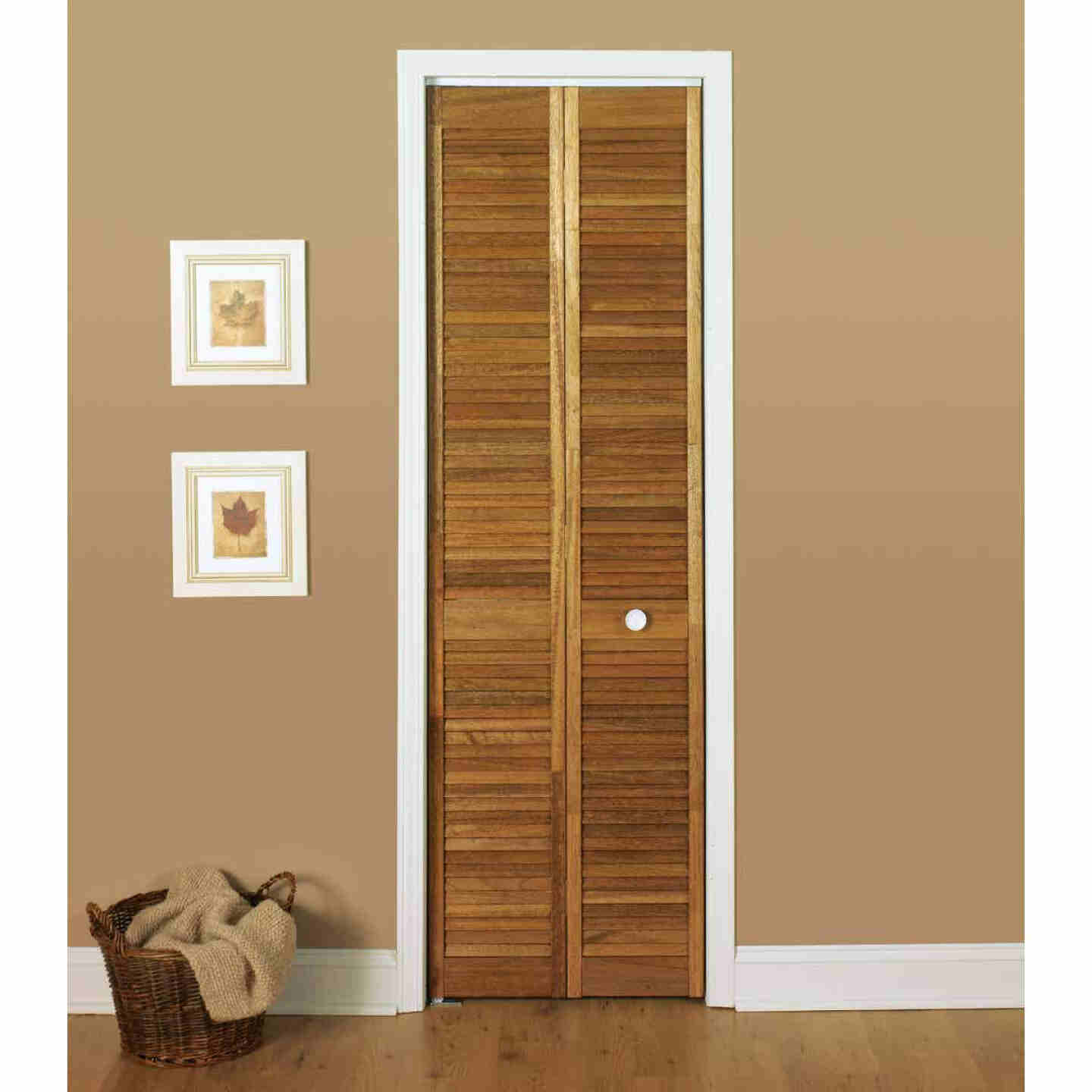 Jeld Wen 24 In. W. x 80 In. H. Pine Louver/Louver Natural Color Bifold Door Image 3