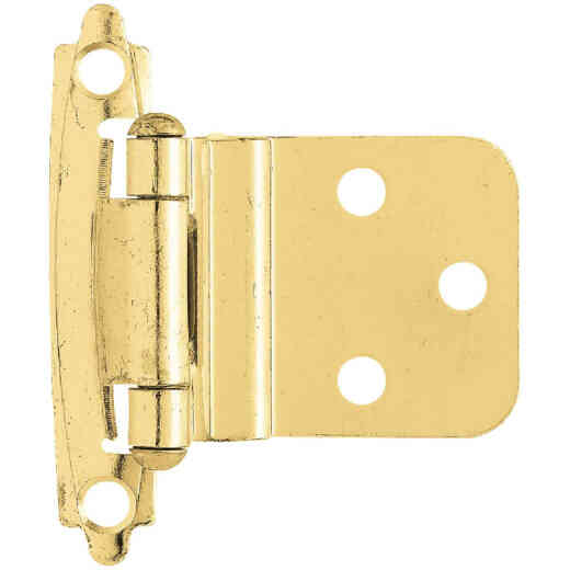 Liberty Polished Brass 3/8 In. Self-Closing Inset Hinge, (2-Pack)