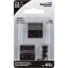 National 1 In. X 1 In. Oil Rubbed Bronze Broad Hinge (4-Pack) Image 2