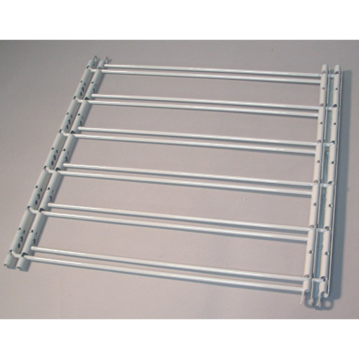 John Sterling Corp Hinged White Enamel 6-Bar Child Safety & Window Security Guard