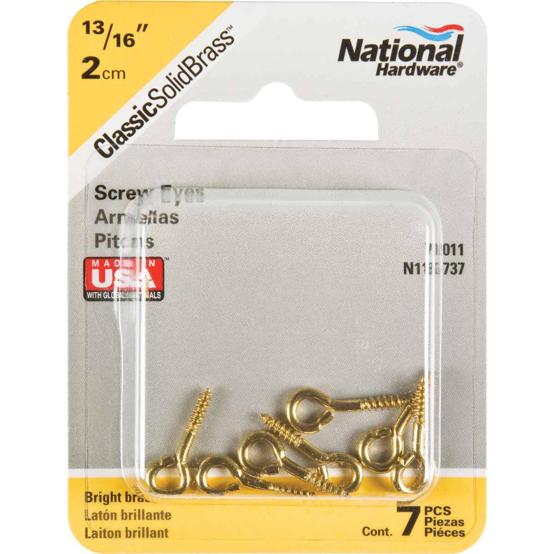 National #214 Brass Small Screw Eye (7 Ct.) Image 2