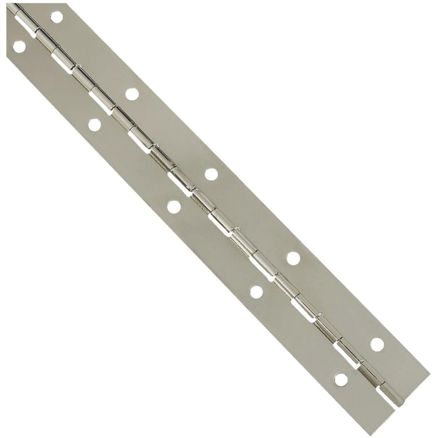 National Steel 1-1/2 In. x 12 In. Nickel Continuous Hinge Image 1