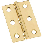 National 1-3/8 In. x 2 In. Brass Medium Decorative Hinge (2-Pack) Image 1