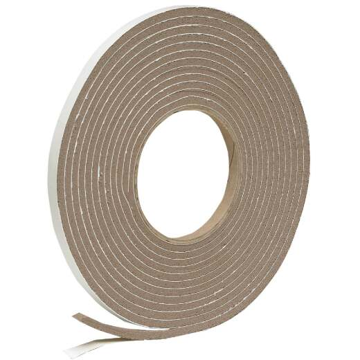 "Do it 3/8"" W x 3/16"" T x 17' L Brown Foam Weatherstrip Tape"