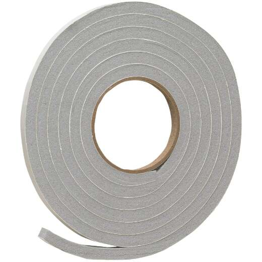 "Do it 1/2"" W x 3/8"" T x 10' L Gray Foam Weatherstrip Tape"