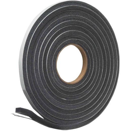 "Do it 1/2"" W x 3/8"" T x 17' L Charcoal Foam Weatherstrip Tape"