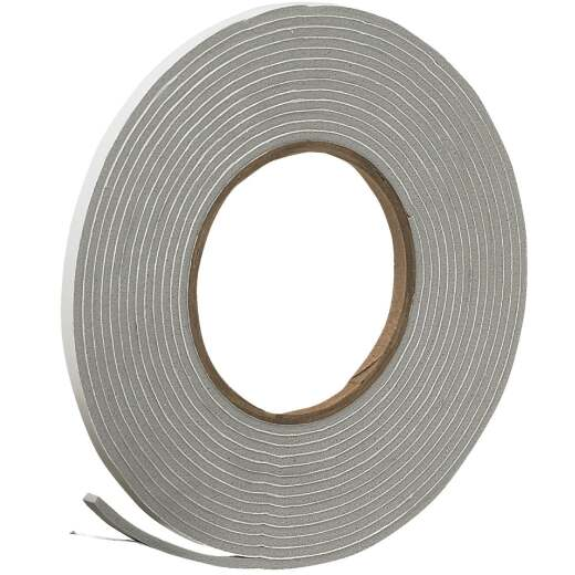 "Do it 1/4"" W x 1/8"" T x 17' L Gray Foam Weatherstrip Tape"