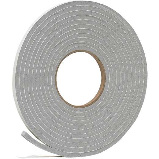 "Do it 3/8"" W x 1/4""T x 17' L Gray Foam Weatherstrip Tape"