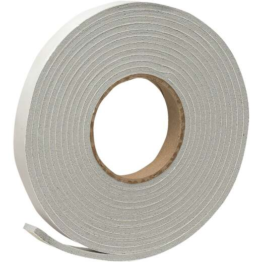 "Do it 3/4"" W x 3/16"" T x 17' L Gray Foam Weatherstrip Tape"