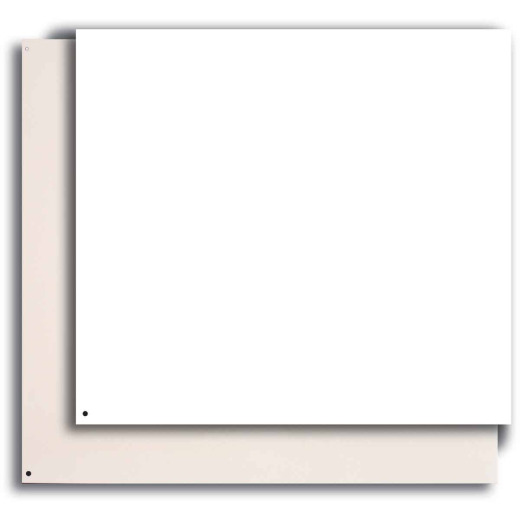 Broan-Nutone 24 In. x 30 In. Aluminum Backsplash Panel, Reversible White/Almond