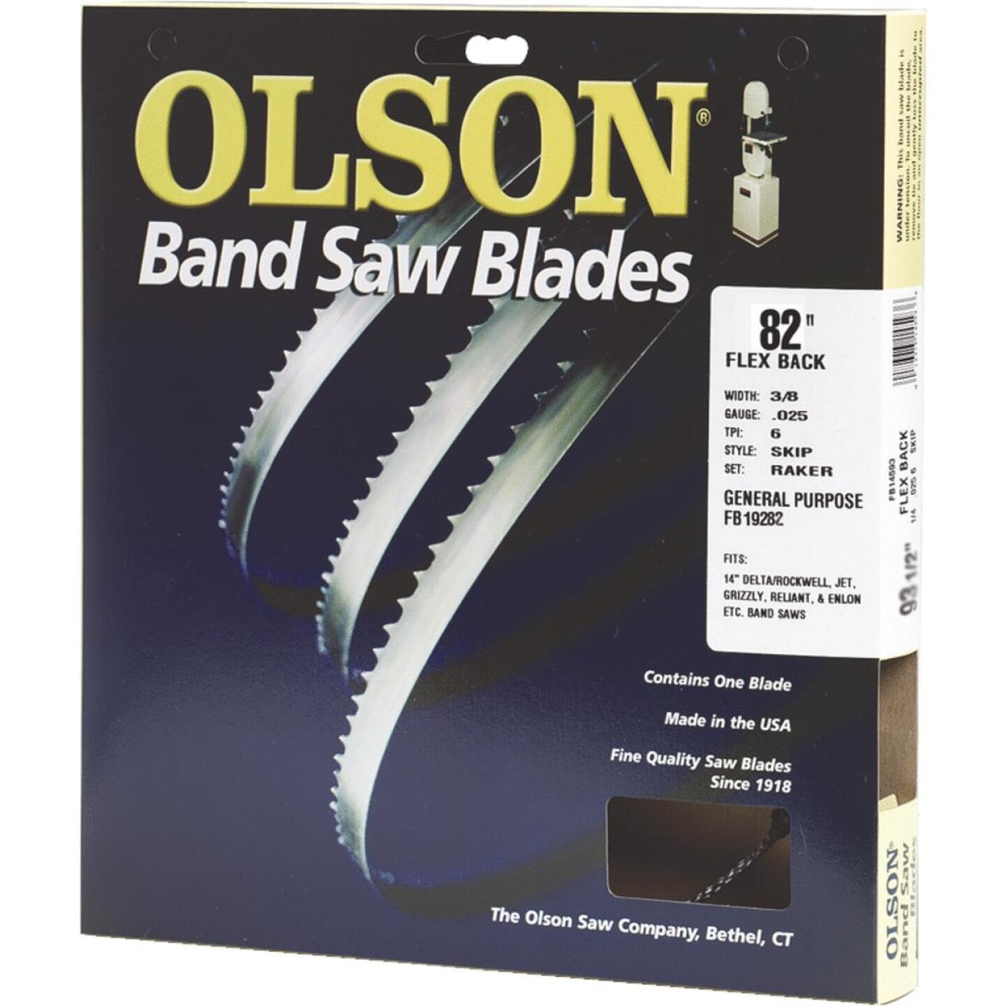 Olson 82 In. x 3/8 In. 4 TPI Skip Flex Back Band Saw Blade Image 1