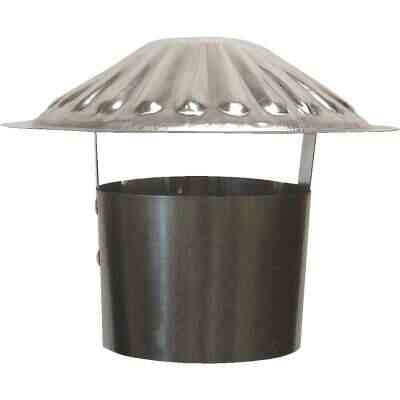 S & K Galvanized Steel 4 In. x 6-3/4 In. Vent Pipe Cap