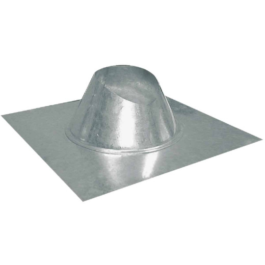 Imperial 4 In. Galvanized Rainproof Roof Pipe Flashing