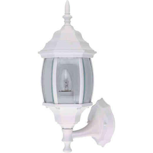 Home Impressions White Incandescent A19 Outdoor Wall Light Fixture