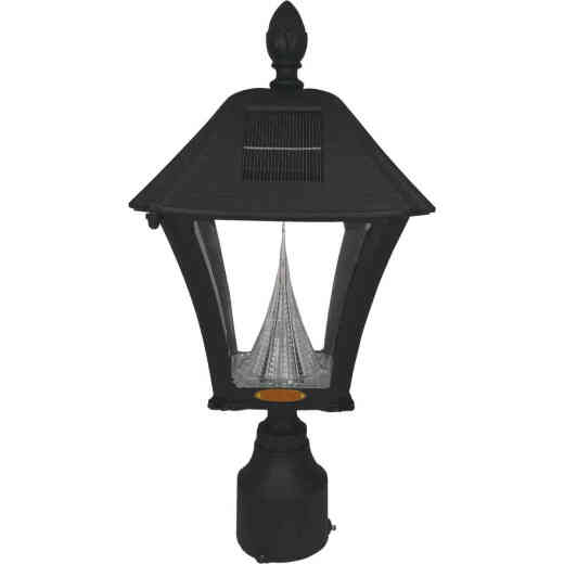 Gama Sonic Baytown II Black Solar Dusk-To-Dawn LED Post Light Fixture