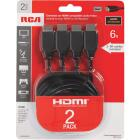 RCA 6 Ft. Black Standard HDMI Cable (2-Pack) Image 3