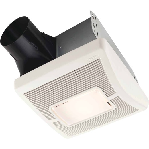 Broan Flex Series 50 CFM 1.5 Sones 120V Bath Exhaust Fan with Light