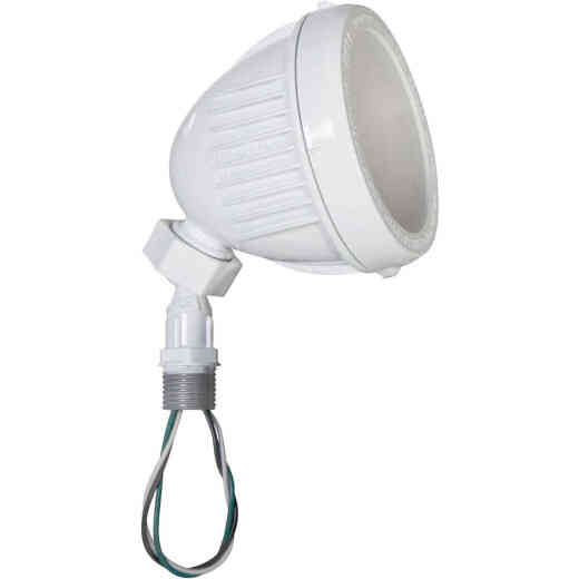 Bell White 13W Die-Cast Aluminum Swivel LED Floodlight Outdoor Lampholder