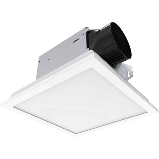 Delta BreezIntegrity 100CFM 1.5 Sones 120V Bath Exhaust Fan with Edge-Lit Dimmable LED Light