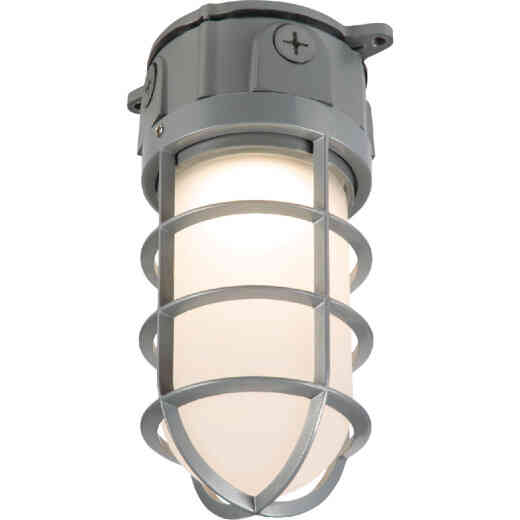 Halo 17.7W LED Vapor Tight Gray Barn Light Fixture