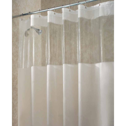 InterDesign York Graphic 72 In. x 72 In. Frosted/Clear Eva Shower Curtain