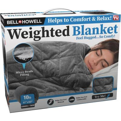 Bell+Howell 41 In. x 60 In. Twin 10 Lb. Weighted Blanket