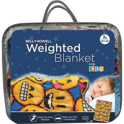 Bell+Howell Kids 7 Lb. Weighted Blanket- Emoji