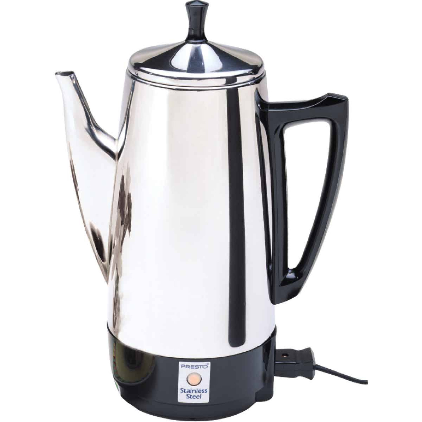 Presto 2 To 12 Cup Stainless Steel Electric Coffee Percolator Image 1