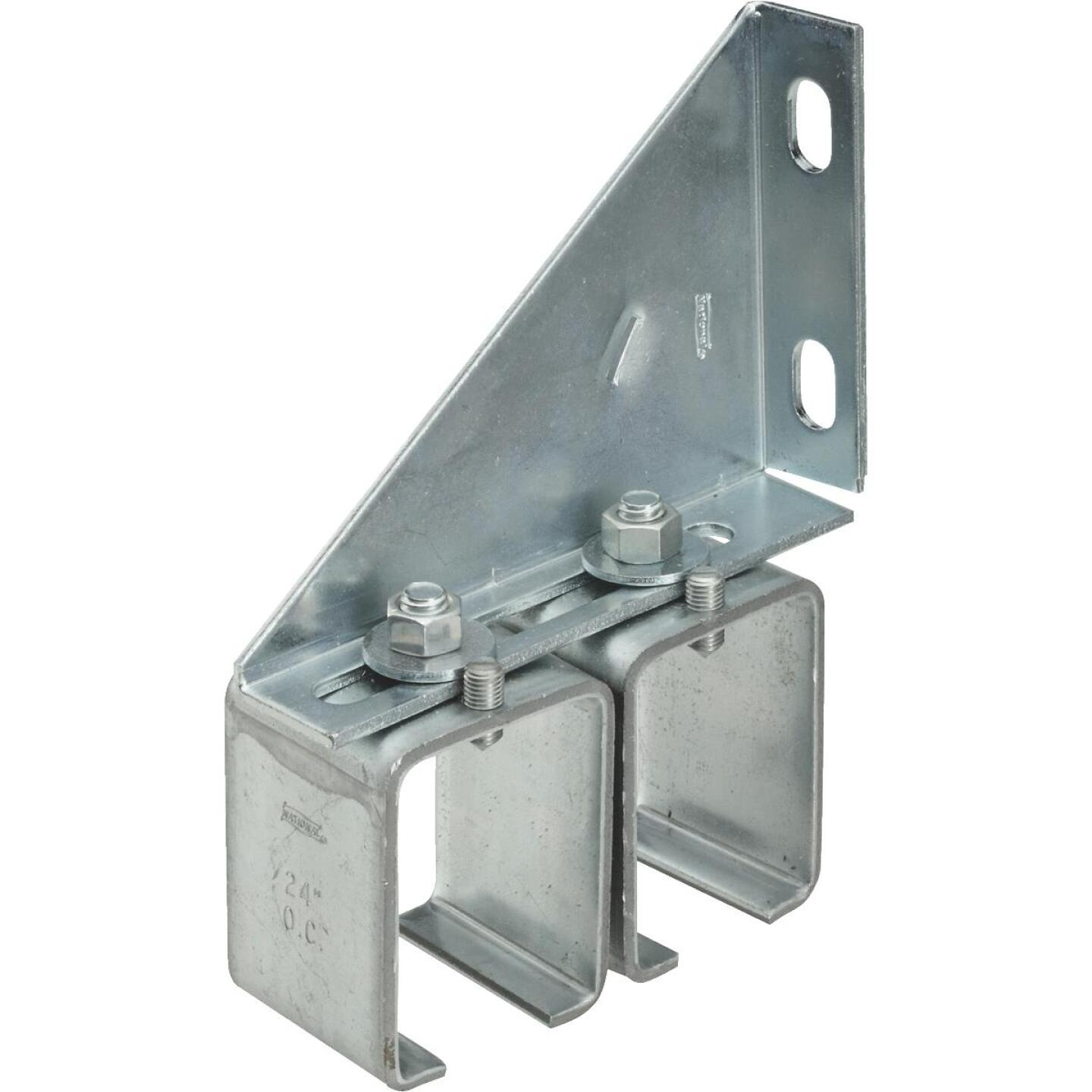 National Galvanized Double Splice Box Rail Barn Door Bracket Image 1