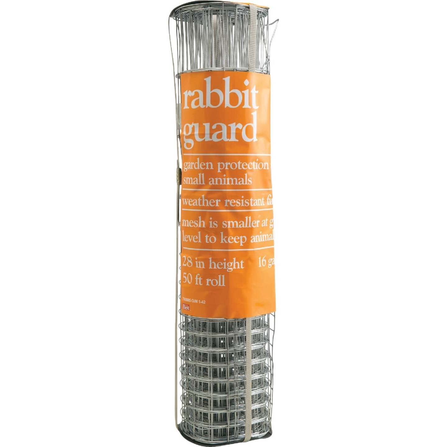 Rabbit Guard 28 In. H. x 50 Ft. L. Galvanized Wire Garden Fence, Silver Image 2