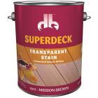 Duckback SUPERDECK VOC Transparent Exterior Stain, Mission Brown, 1 Gal. Image 1