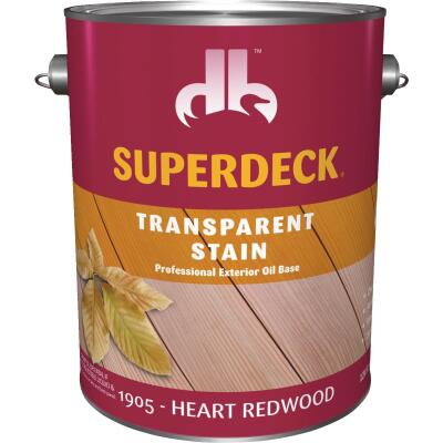 Duckback SUPERDECK Transparent Exterior Stain, Heart Redwood, 1 Gal.