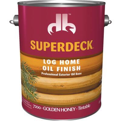 Duckback SUPERDECK Translucent Log Home Oil Finish, Golden Honey, 1 Gal.