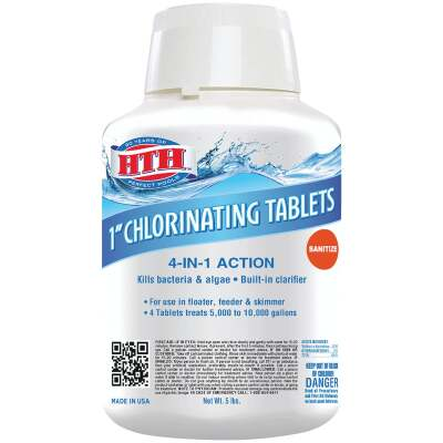 HTH 1 In. 5 Lb. Chlorine Tablet